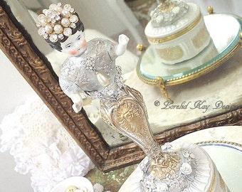 Art Doll Jewelry Box Mixed Media Assemblage Art Doll Jewelry Holder Special Jewelry Ring Box