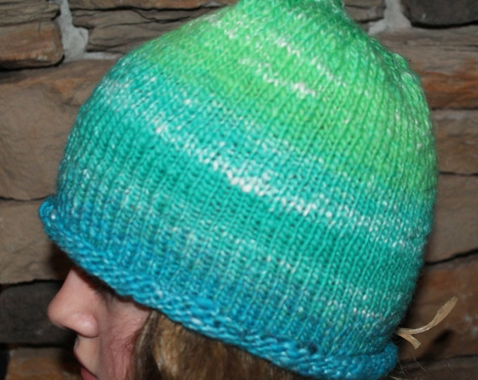 Hand Knit Merino Wool/bamboo hat.  Super warm and soft.  One Size Fits All