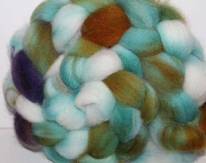 Kettle Dyed Cheviot Wool Top.  Easy to spin. 4oz  Braid. Spin. Felt. Roving. C123