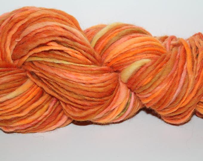 Hand spun Cheviot Wool. Single ply. Aran weight 4oz/120 yards. Knit.  C171