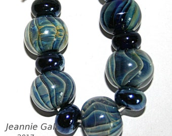 Lampwork  Art Beads by Jeanniesbeads #1913