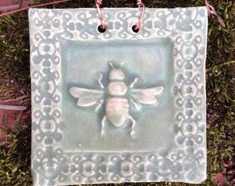 Honeybee Tile in Sage Green
