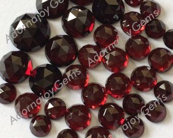 Gemstone Cabochon Garnet 8mm Rose Cut FOR ONE