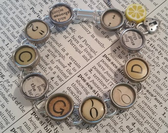 SEE the GOOD - Vintage Typewriter Key Bracelet