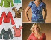 Simplicity 4076 Misses Knit Top Uncut Pattern Size 16-18-20-22-24