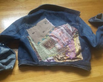 Gypsy Boho cropped denim jacket