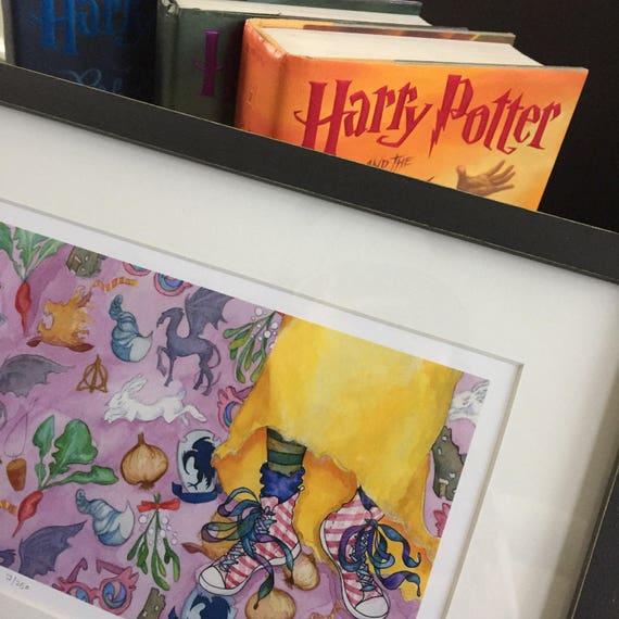 LUNA LOVEGOOD harry potter artist print limited edition luna print faerie tale feet original art by halthegal