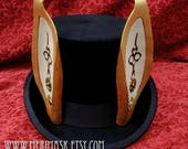 RESERVED for Wes.... one custom rabbit ear top hat made to order