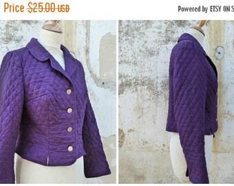 ON SALE 20% Vintage 1970/70s Austria Tyrol trachten dirndl quilted Purple jacket size S