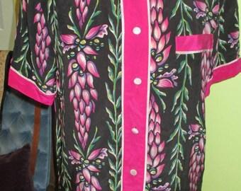 Colorful Bob Mackie Floral Silk Blouse