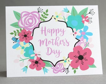 Mother's Day Card/Floral Mother's Day Card/Card for Mom with Flowers/Unique Mother's Day Cards/Flower Greeting Card/ Card for Grandma