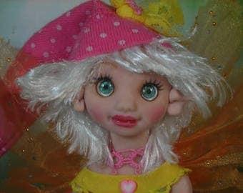 Fairy Fairies Fae pixie elf OOAK Fantasy Art Doll By Lori Schroeder