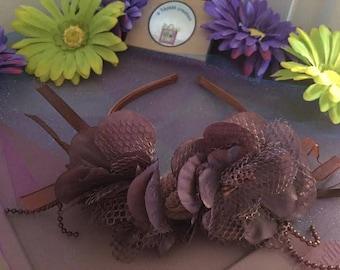 Flower Headband -Taupe