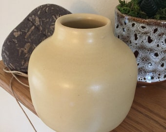 Ceramic Vase - Little Yellow Pottery Vase - Handmade Pottery and Ceramics - Yellow Flower Vase
