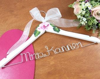 Bridal Hangers Personalized - Custom Wedding Dress Hangers - Personalized Wire Name Hanger - Accessories - Personalized Hanger -Coat Hangers