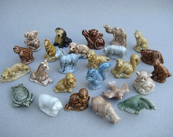 25 Wade Whimsies Red Rose Tea Animal Figurines Made in England Instant Collection No Duplicates