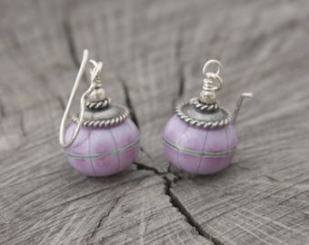 Elegant Pale Pinky Purple Earrings