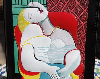 Portfolio with Picasso Sleeping Woman