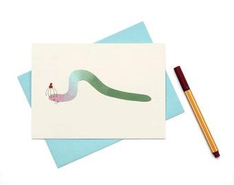 Worm Greeting Card
