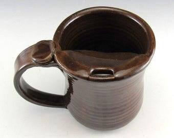LEFT HANDED Mustache Mug/Moustache Mug/Mustache Cup/Mustache Guard Mug 8-10 Ounces