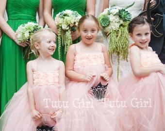 Flower Girl Dress, Flower Girl Dresses, Girls Tulle Dress
