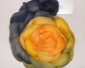Goldmine - handdyed Exmoor Blueface wool tops