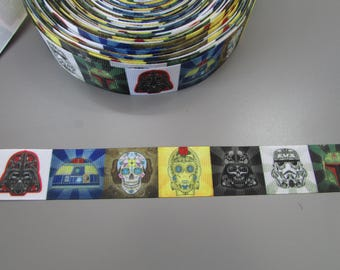 Star Wars Sugar Skull Grosgrain Ribbon x 1 metre