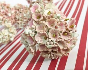 Vintage Millinery Flower Trim   Nosegay Bundles in Pink  Pretty in Pink Vintage Nosegay Bundles