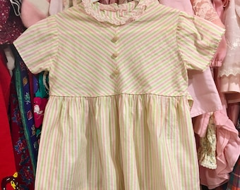 1950s Candy Stripe Dress 2/3T