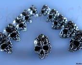 Mega-mind Skull Beads for Paracord, Key Fobs, European Bracelets, More!