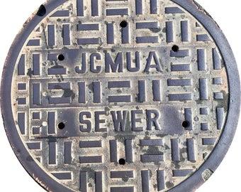 DOORMAT - Jersey City, NJ Sewer Cover  - Original Photography