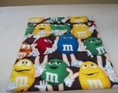Large, Microwave, M M Potato Bag, Red Yellow, Blue Green, Orange, M and M, Baked Potato Bag, Potato Bag, Handmade, Kitchen Utensil, Gift