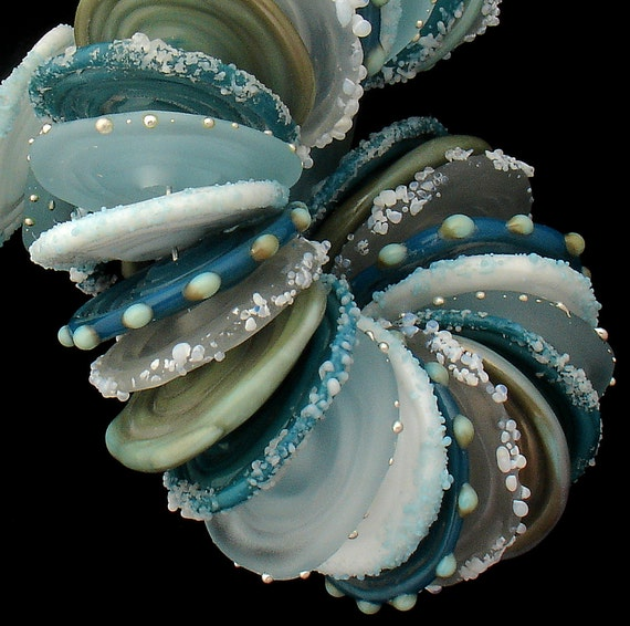 DSG-Debbie Sanders Glass Artisan Handmade OrGaNiC Lampwork Beads ~Ice Land~ Made To order