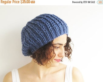 50% CLEARENCE Blue Slouchy Hat by Afra