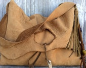RESERVED for Tash Rustic Nubuck Leather Shoulder Bag with Natural Character by Stacy Leigh