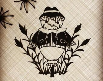 Original Papercut - Scarecrow