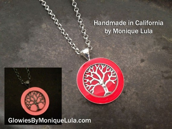 Tree of Life Glow Art Necklace Made in USA