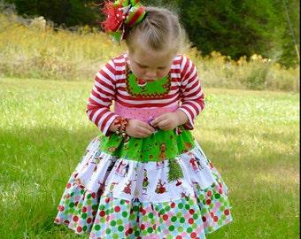 Grinch Twirly Dress