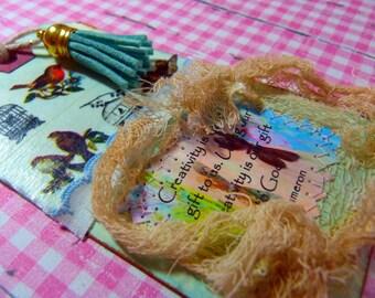 Gift tag - handmade, Blue, Creativity