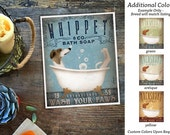 Whippet dog bath soap Company vintage style artwork by Stephen Fowler Giclee Signed Print