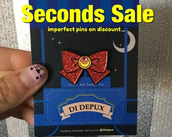 SECONDS SALE Sailor moon Bow Pin, enamel pin, soft pin