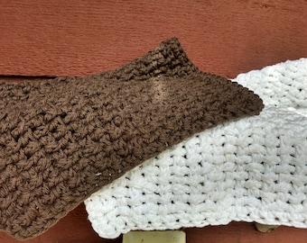 100% cotton crocheted wash cloths
