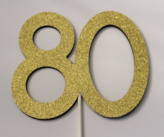 80th Birthday Cake topper 80 Cake topper 80th Birthday
