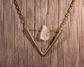 Quartz Chevron Necklace