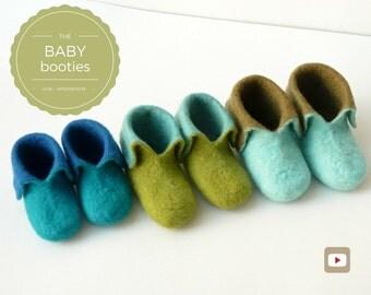 DIY - Video Tutorial Baby Booties - Intermediate level - 7 videos & PDF pattern - Instant download