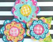Fresh Picked Flowers (Sloan) -- Handmade Fabric and Felt Adornments
