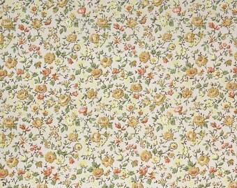 1960s Vintage Wallpaper - Floral Vintage Wallpaper Yellow and Orange Chintz