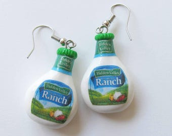Ranch Dressing Earrings