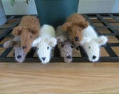 Reserved Order for Julie - Alpaca Hand Knit Mice Cat Toys and Felted Wool Bells Cat Toys