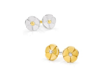 Buttercup Stud Earrings designed by Victoria Buckley